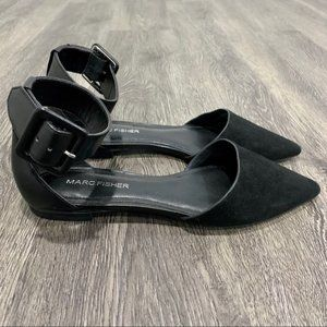 Marc Fisher | Alfoso Black Pointed-Toe Flats SZ 5